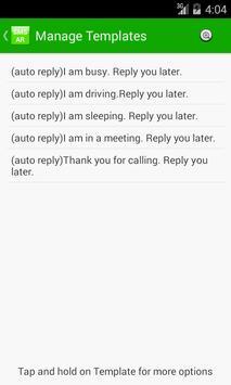 SMS Auto Response(SAR) apk screenshot