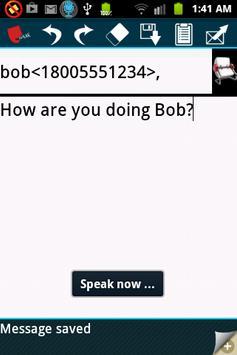 Hands free speech sms/texting apk screenshot