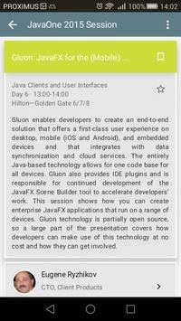 JavaOne apk screenshot