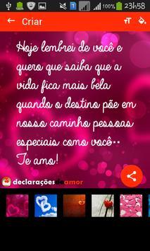 Declarações de Amor apk screenshot