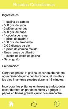 Recetas Colombianas apk screenshot