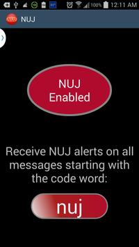 NUJ - Text Message SMS Alert poster
