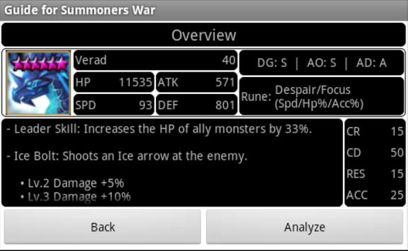 Guide for Summoners War apk screenshot