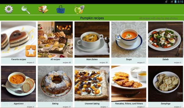 Pumpkin recipes apk screenshot