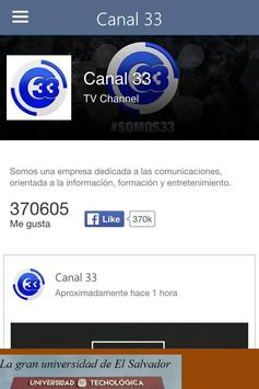 Canal 33 apk screenshot