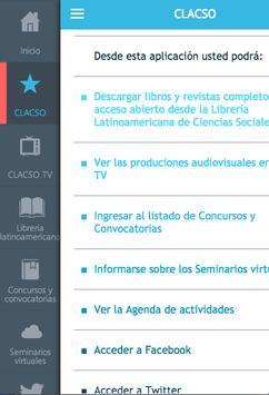 CLACSO apk screenshot