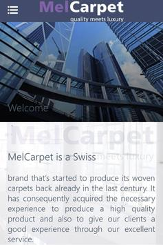 MelCarpet mobile poster