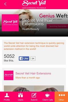 Secret Veil Hair Extensions apk screenshot