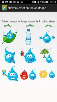 stickers emotion for whatsapp poster