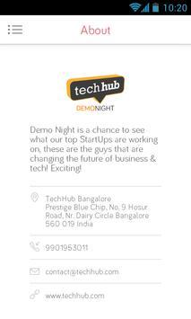Techhub Bangalore Demo Night apk screenshot