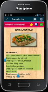 Universal Food Recipes apk screenshot