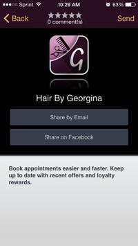 Georgina's Mobile Hairdressing apk screenshot