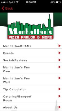 Manhattans Pizza Parlor & More apk screenshot
