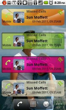 Missed Calls Widget poster