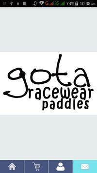 Gota Racewear Paddles poster