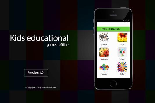 Kids educational games offline apk screenshot