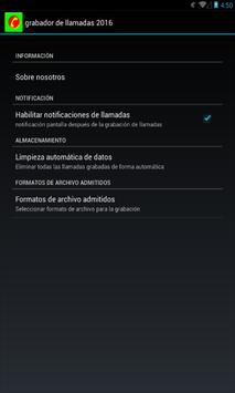 Grabador de llamadas 2016 apk screenshot