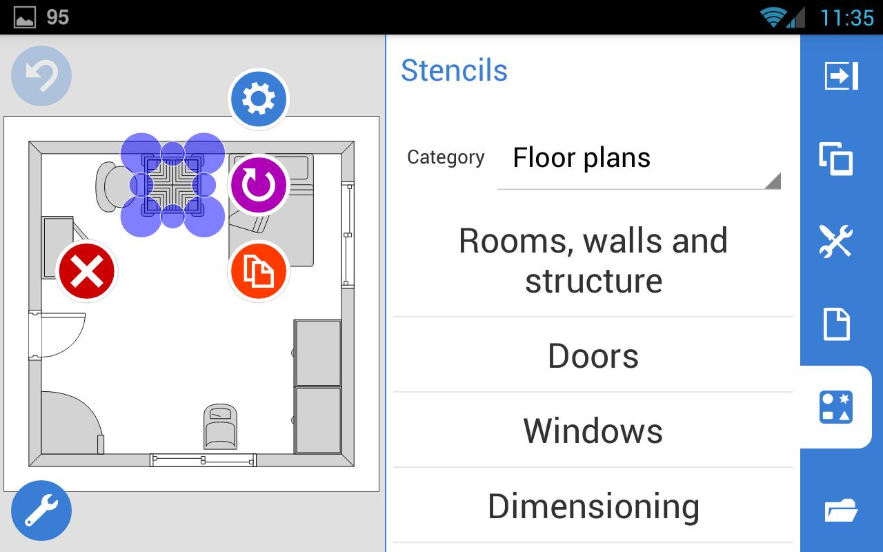 Grapholite floor plans apk download free productivity for Wedding floor plan app