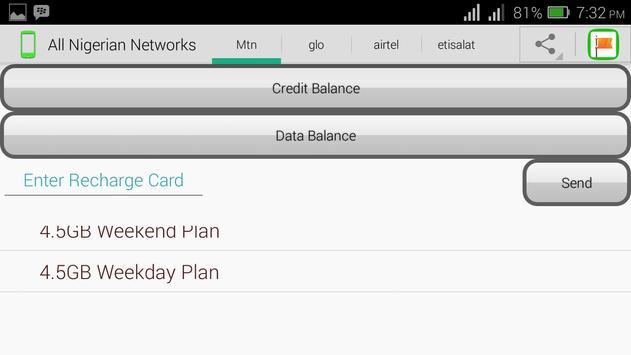 All Nigerian Networks apk screenshot