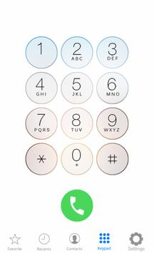 i Call Screen Dialer 6S Theme poster