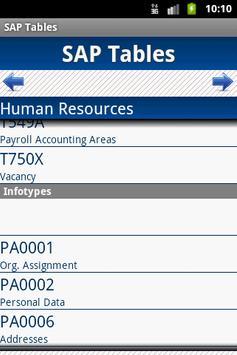 SAP Tables apk screenshot