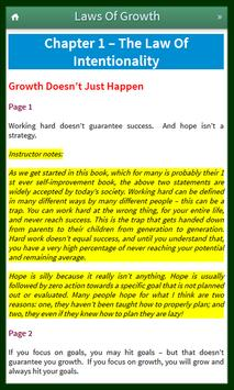 15 Invaluable Laws Of Growth apk screenshot