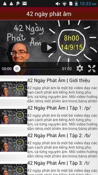 42 ngày phát âm tiếng Anh Mỹ apk screenshot