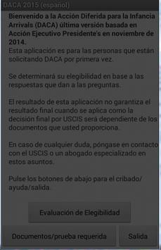 DACA - 2014/2015 (español) poster