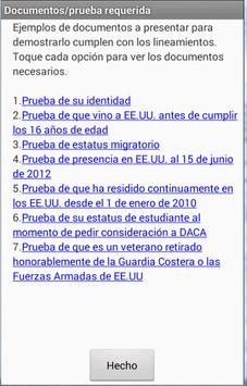 DACA - 2014/2015 (español) apk screenshot