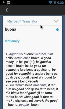 Italian English Translator apk screenshot