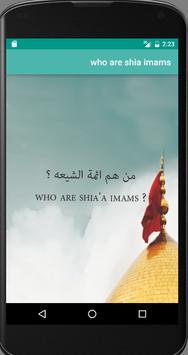 who are shia'a imams ? poster