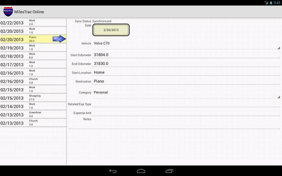 MilesTrac Online apk screenshot