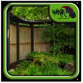 Bamboo Garden Fence Design icon