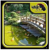 Japanese Garden Bridge Design icon
