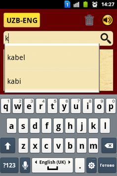 ENG-UZB UZB-ENG Dictionary apk screenshot