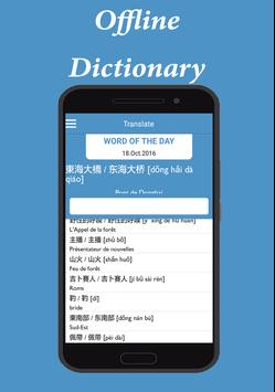 Chinese French Dictionary poster
