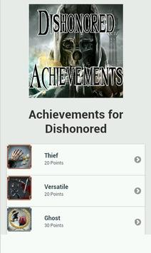 Achievements for Dishonored poster