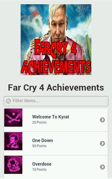Achievements for Far Cry 4 poster