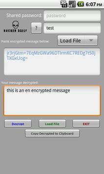 Encrypted Messages Plus apk screenshot