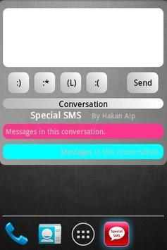 Special SMS apk screenshot