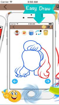 How To Draw Hairstyles- easy🖌 apk screenshot