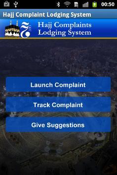 Hajj Complaints Lodging System poster