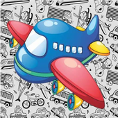 Baby learning transport icon