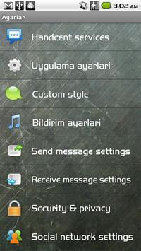 Handcent SMS Turkish Language apk screenshot
