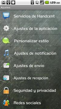 Handcent SMS Spanish Language apk screenshot