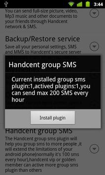 Handcent GroupSms plugin 1 apk screenshot