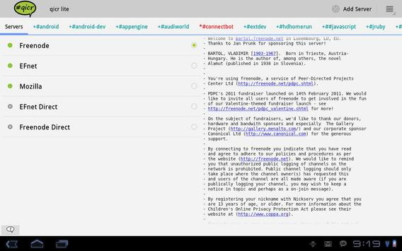 qicr lite IRC client beta apk screenshot