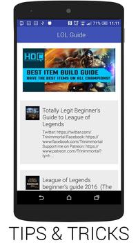 Guide for League of Legend poster