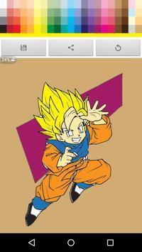 Paint Super Saiyan for kid apk screenshot