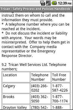 Trican - Safety Manual apk screenshot